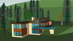 Brighter days south west elevation plan 3-D 1-14-2011