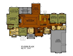 2010 - SPRING GREEN-BRO-FLOOR PLAN-Model