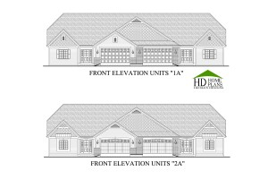 20140303 BROCHURE - LEGEND COURT TOWN HOMES UNITS A  FRONT ELEVATIONS 24X36