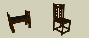 Iwanski - Dining Chair and Hall Bench - View3
